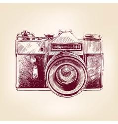 Vintage old photo camera llustration vector