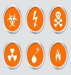 Warning symbols vector