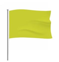 Waving yellow flag tempalte vector image