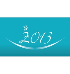 White 2013 year on a blue background vector image