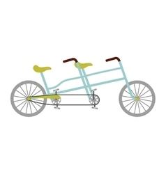 Bicycle vehicle style isolated icon vector