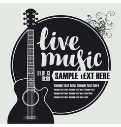Acoustic guitar for live music vector