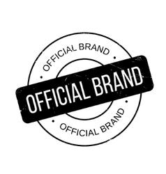 Official brand rubber stamp vector