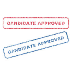 Candidate approved textile stamps vector