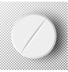 White 3d medical pill vector