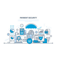 Protection payment security finance deposits vector