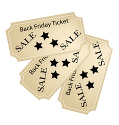 Black friday tickets for christmas shopping season vector