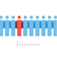 be different concept vector image