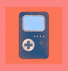 Flat shading style icon game console vector