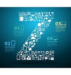 Application icons alphabet letters Z design vector image