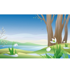 Early spring vector image