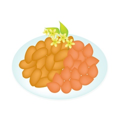 A Traditional Thai Dessert Golden Sweet Meat vector image