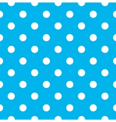 Blue polka dot seamless pattern design vector