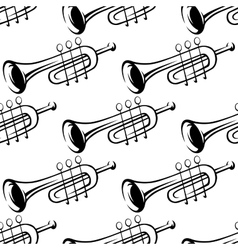 Seamless pattern of trumpets vector