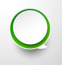 Paper white-green round speech bubble vector
