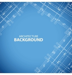 Blueprint building print vector