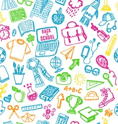 Seamless pattern of school Back to school vector image