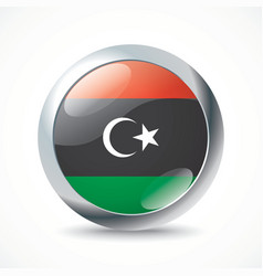 Libya flag button vector