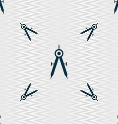 Mathematical compass sign icon seamless pattern vector