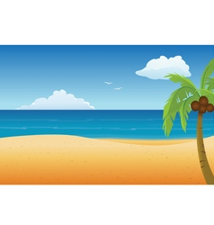 Beach empty vector