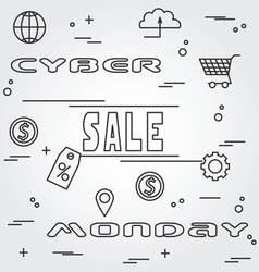 Cyber monday design eps10 cyber monday graphicthin vector