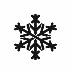Christmas snowflake icon black simple style vector