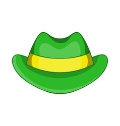 Green hat icon cartoon style vector