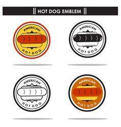 american hotdog emblem vector image