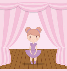 ballet ballerina design vector image