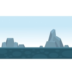Big rock scenery backgrounds game vector
