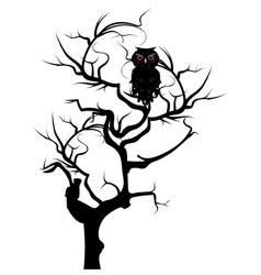 Black owl2 vector