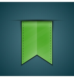 Bookmark decoration ribbon vector