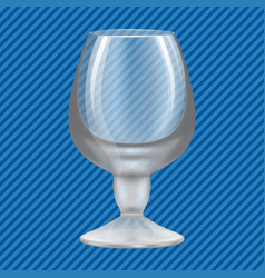 brandy glass concept background realistic style vector image
