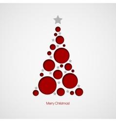 Christmas card with Christmas tree vector image vector image