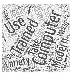 Computer training word cloud concept vector