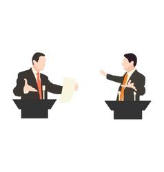 Debate two speakers political speeches debates vector