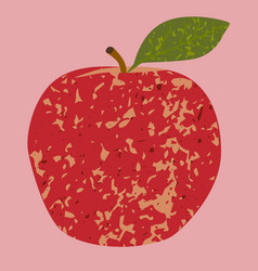 Fruit red apple clip art vector