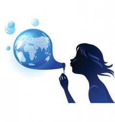 Globe bubble vector