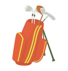 Golfing bag icon cartoon style vector