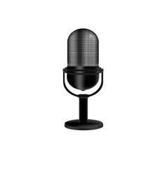 Microphone retro vector image