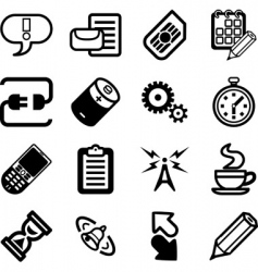 mobile icon vector image vector image