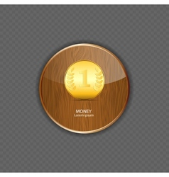 Money wood application icons vector image vector image