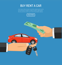 purchase or rental car vector image vector image