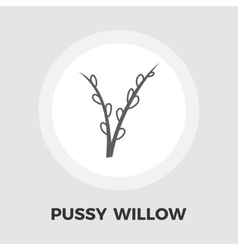 Pussy-willow icon flat vector