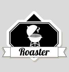 Roaster design vector