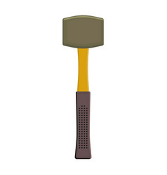 Rubber mallet tool isolated vector