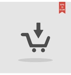 shopping cart Flat vector image