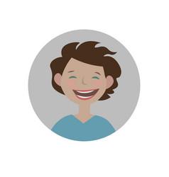 smiling emoticon happy emoji laughing smiley vector image