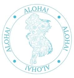 Stamp aloha vector