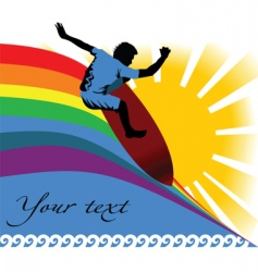 surfing summer vector image